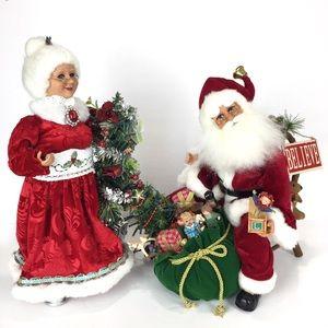 Karen Didion Santa & Mrs. Claus Lighted Figures